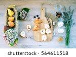 summer breakfast   dishes from...   Shutterstock . vector #564611518