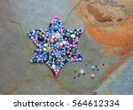 Star Of David Made Of  Colored...