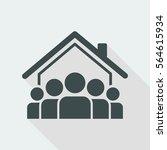 social community   vector web... | Shutterstock .eps vector #564615934