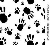 Hand Print Human And Animal Pa...