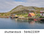 traditional old fishing village ... | Shutterstock . vector #564622309