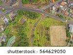 suburban small latin american... | Shutterstock . vector #564629050