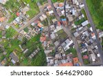 Urban Rooftops Aerial View In ...