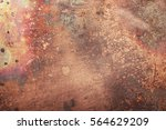 aged copper plate texture  old... | Shutterstock . vector #564629209
