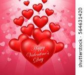 happy valentine's day | Shutterstock .eps vector #564631420