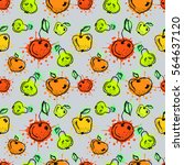 seamless vector pattern. hand... | Shutterstock .eps vector #564637120