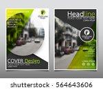 green circle flyer cover... | Shutterstock .eps vector #564643606