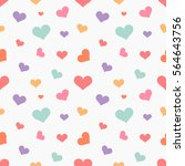Colorful Hearts Seamless...