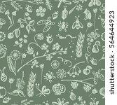 seamless vector pattern ... | Shutterstock .eps vector #564644923