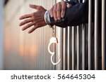 hand of businessman locked with ... | Shutterstock . vector #564645304