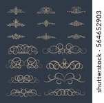 vintage decor elements and... | Shutterstock .eps vector #564652903