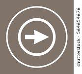 arrow   icon vector. flat... | Shutterstock .eps vector #564654676