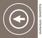 arrow   icon vector. flat... | Shutterstock .eps vector #564655576