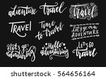 inscription let's go to travel  ... | Shutterstock .eps vector #564656164