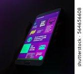 beautiful violet smartphone app ...