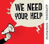 megaphone hand business concept ... | Shutterstock .eps vector #564656659