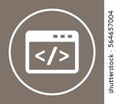 code icon  vector.  flat design. | Shutterstock .eps vector #564657004