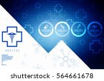 2d medical structure background | Shutterstock . vector #564661678