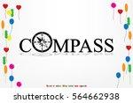 compass logo icon vector...