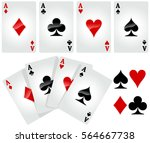 playing cards.  | Shutterstock .eps vector #564667738