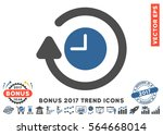 cobalt and gray repeat clock... | Shutterstock .eps vector #564668014