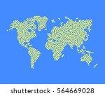 world map dots. abstract... | Shutterstock .eps vector #564669028