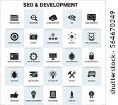 seo   development icon banner... | Shutterstock .eps vector #564670249