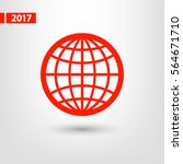 globe icon vector illustration. ... | Shutterstock .eps vector #564671710