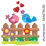 valentine birds on fence theme...