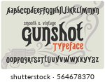 classic smooth font named ... | Shutterstock .eps vector #564678370