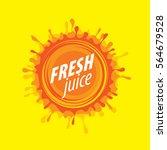 juice splash vector sign | Shutterstock .eps vector #564679528
