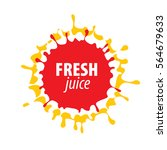 juice splash vector sign | Shutterstock .eps vector #564679633