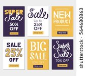 sale banners set and ads web... | Shutterstock .eps vector #564680863
