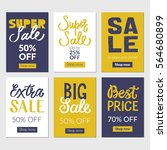 sale banners set and ads web... | Shutterstock .eps vector #564680899