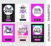 sale banners set and ads web... | Shutterstock .eps vector #564680920