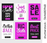 sale banners set and ads web... | Shutterstock .eps vector #564680968