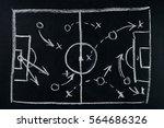 soccer play tactics strategy... | Shutterstock . vector #564686326