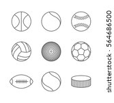 gray icons of various sports... | Shutterstock . vector #564686500