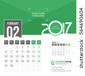 february 2017. calendar for... | Shutterstock .eps vector #564690604