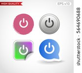 colored icon or button of power ... | Shutterstock .eps vector #564690688