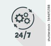 steady technical support... | Shutterstock .eps vector #564691588
