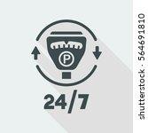 steady parking service 24 7  ... | Shutterstock .eps vector #564691810