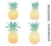 pineapple vector illustration | Shutterstock .eps vector #564695548
