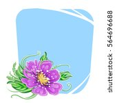 color background with spring... | Shutterstock .eps vector #564696688
