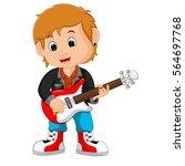 rock star guitar player | Shutterstock . vector #564697768