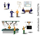 the process of working people... | Shutterstock .eps vector #564703276