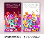 two options of invitation flyer ... | Shutterstock .eps vector #564706060