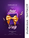 happy valentine's day flyer or... | Shutterstock .eps vector #564706159