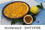 homemade passion fruit... | Shutterstock . vector #564719338