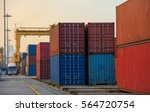container container ship in... | Shutterstock . vector #564720754